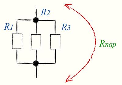 При параллельном соединении полное сопротивление цепи меньше самого...